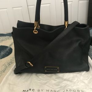 Marc by Marc Jacob Black Leather Tote